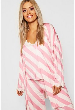 Womens Pink Gemma Collins Short Lace Trim Robe