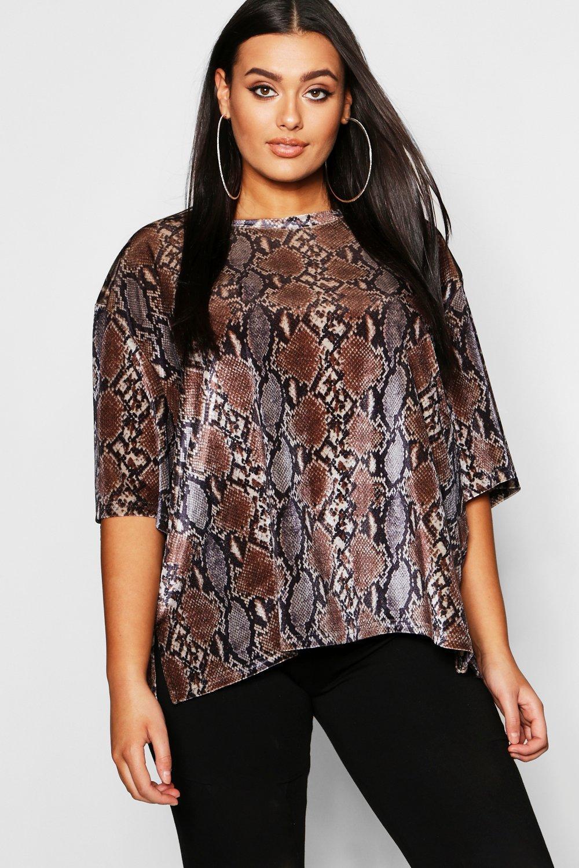 Plus Velvet Snake T Shirt
