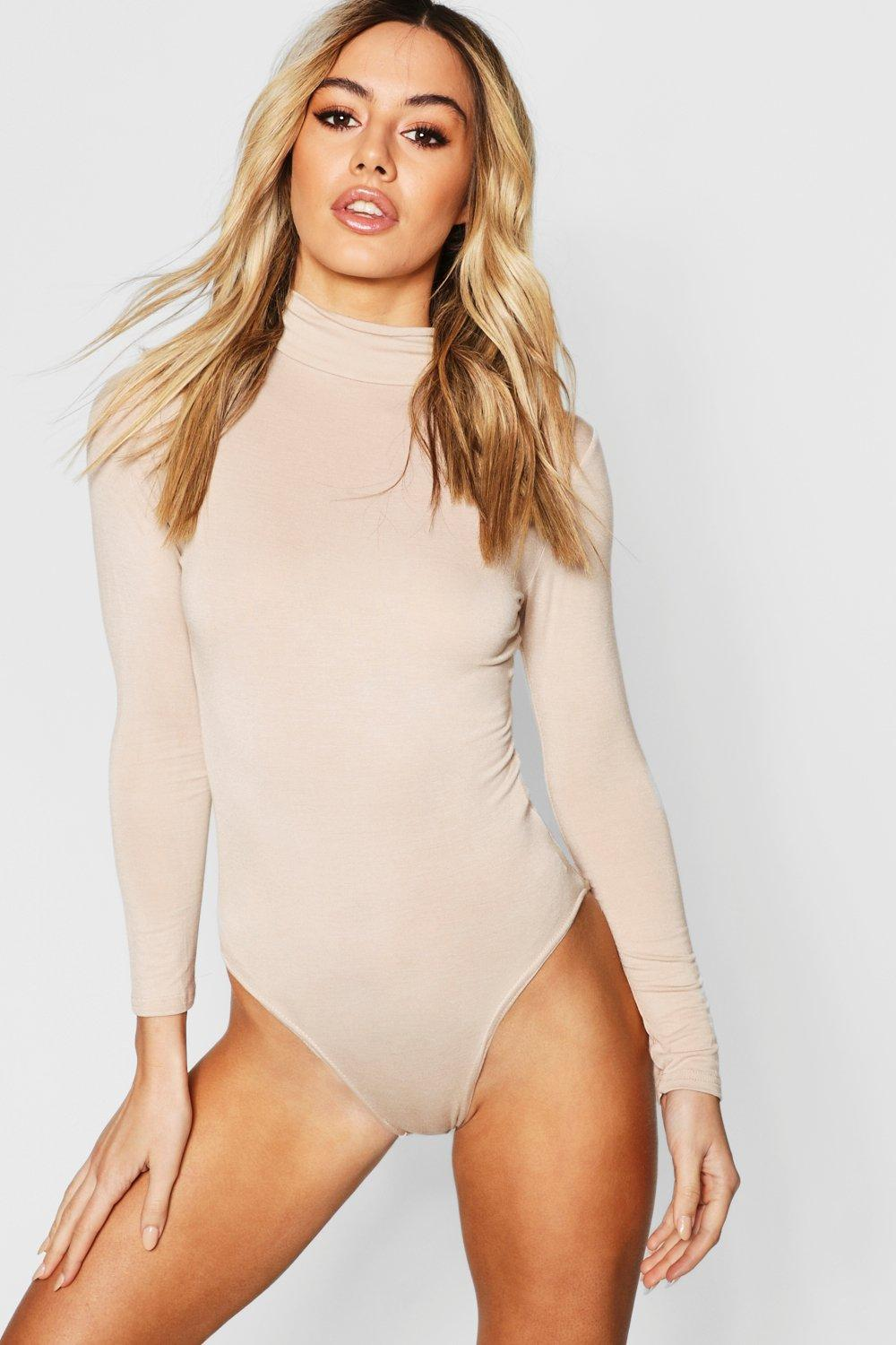 1c510f0fbd8 Petite Turtle Neck Long Sleeve Bodysuit. Hover to zoom