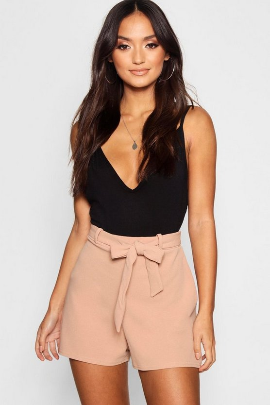 Petite Belted High Waist Short