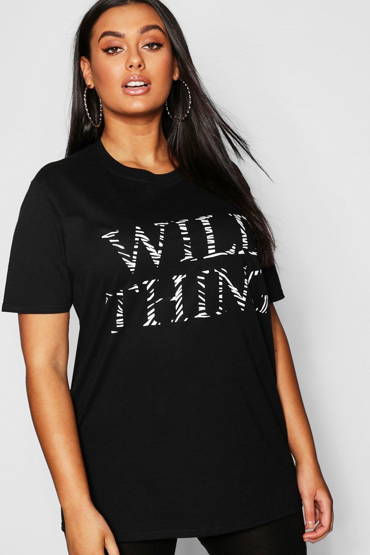 Plus Wild Thing Oversized T-Shirt