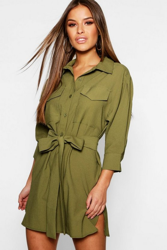 Petite Utility Shirt Dress