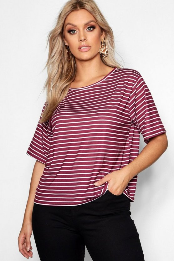 Plus Stripe T-Shirt