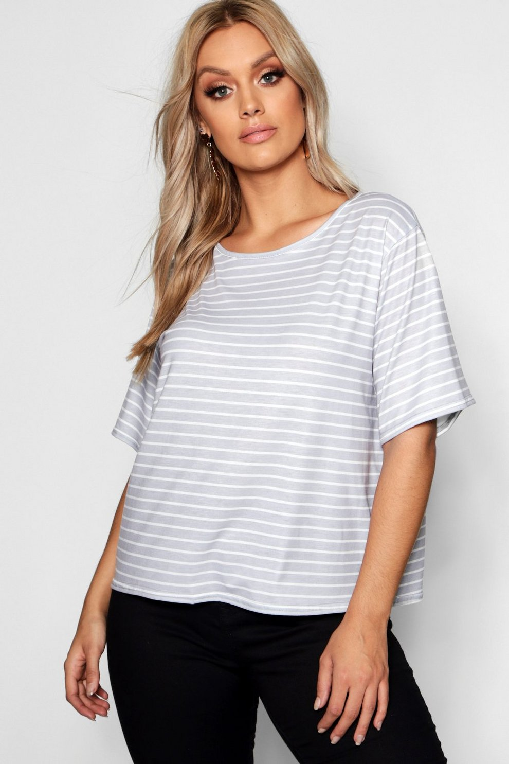 58be308fff1 Robe T-Shirt à rayures Plus