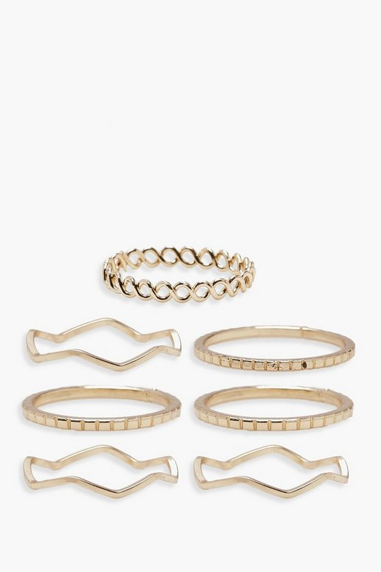 Plus Delicate Rings 7 Pack
