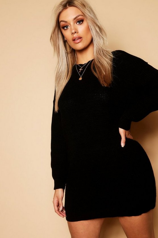 Plus Crew Neck Jumper Dress