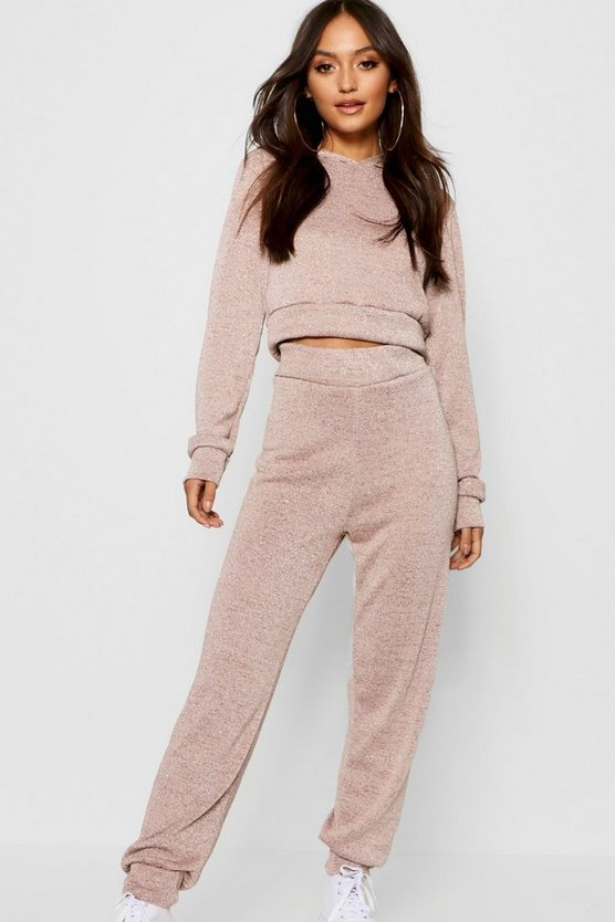 Petite Glitter Sparkle Hoody + Jogger Co-ord