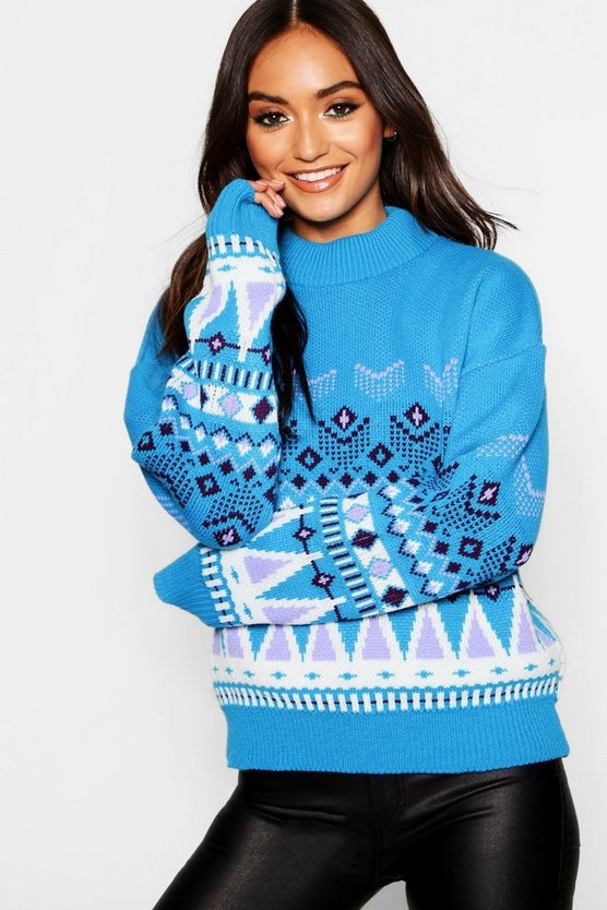 Petite Oversized Fairisle Christmas Jumper