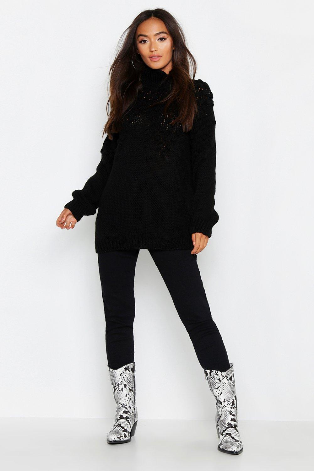 Petite Waffle Knit Oversized Jumper. Hover to zoom 2ff2be6e5