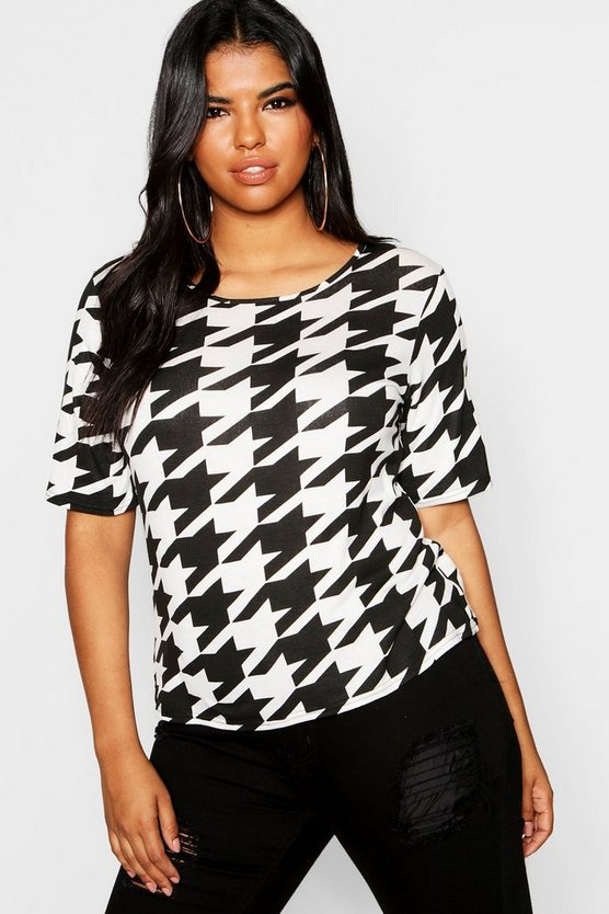 Plus Dogtooth T-Shirt