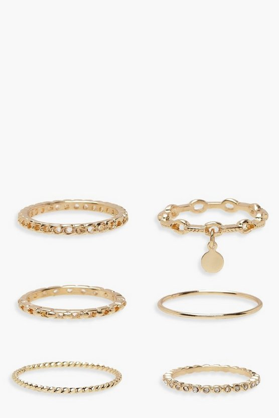 Plus Gold 7 Pack Basic Ring Set