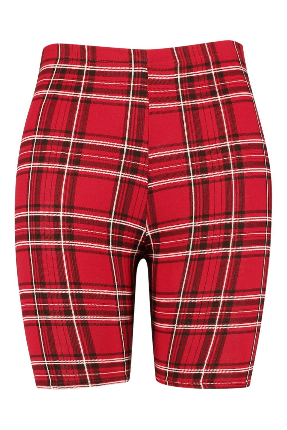 Plus Cycling Tartan red Short Plus Tartan d7qxgtd