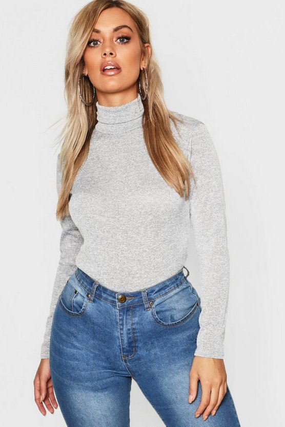 Plus Turtle Neck Rib Bodysuit