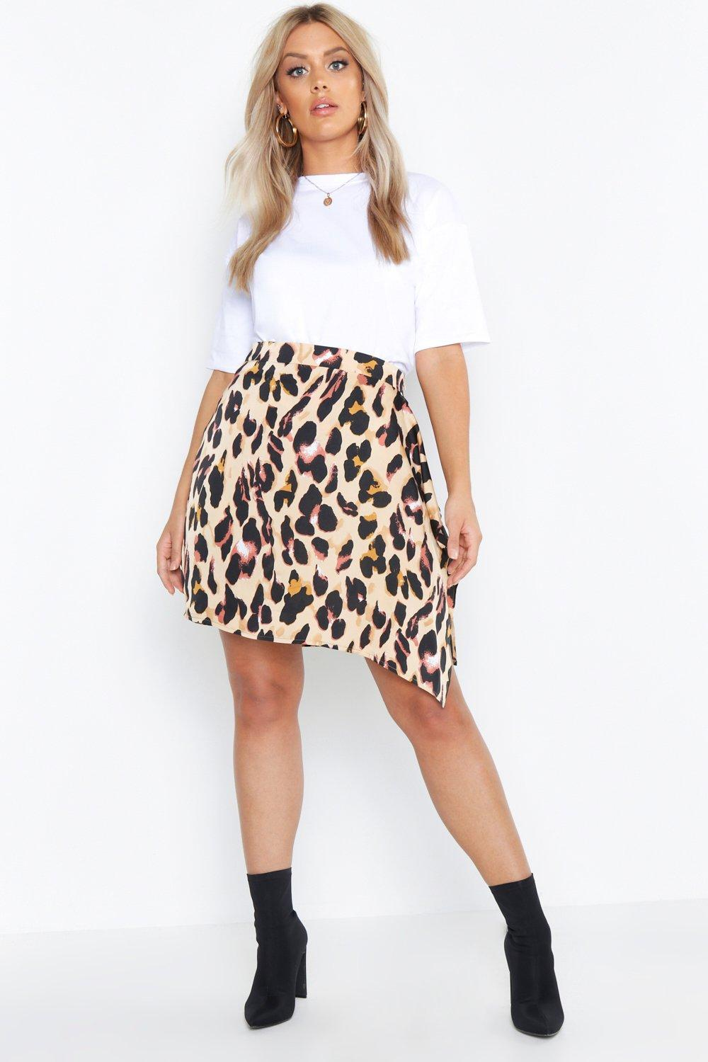Plus Animal Mini Wrap Skirt