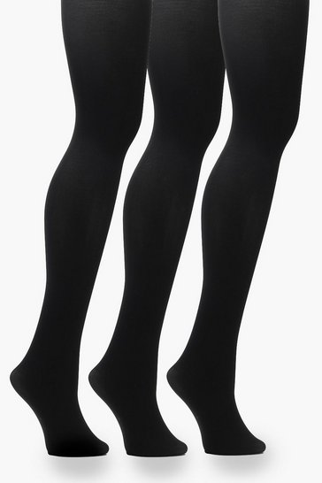 Black Plus 60 Denier 3 Pack Tights