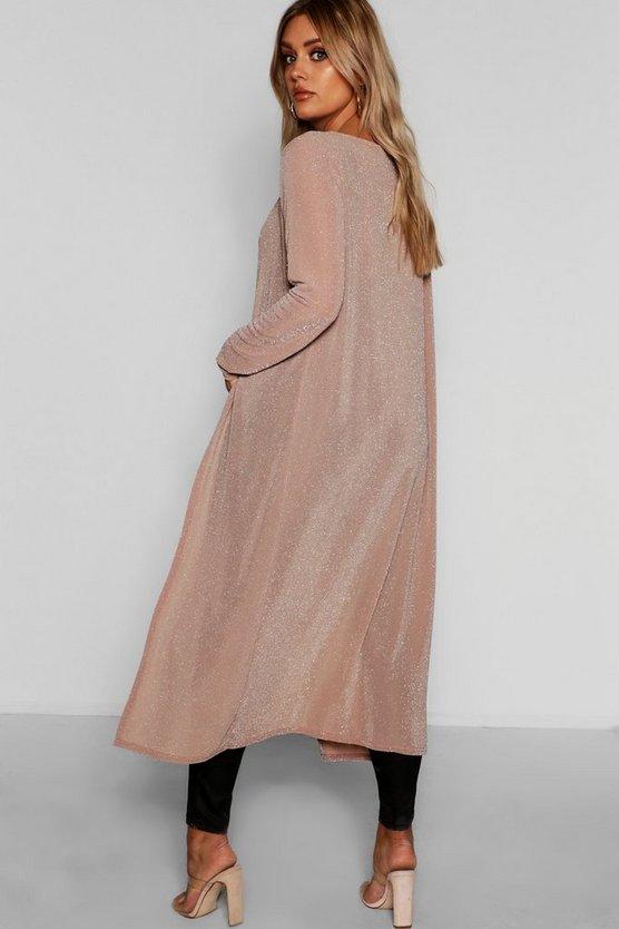 Plus Metallic Sparkle Midaxi Kimono