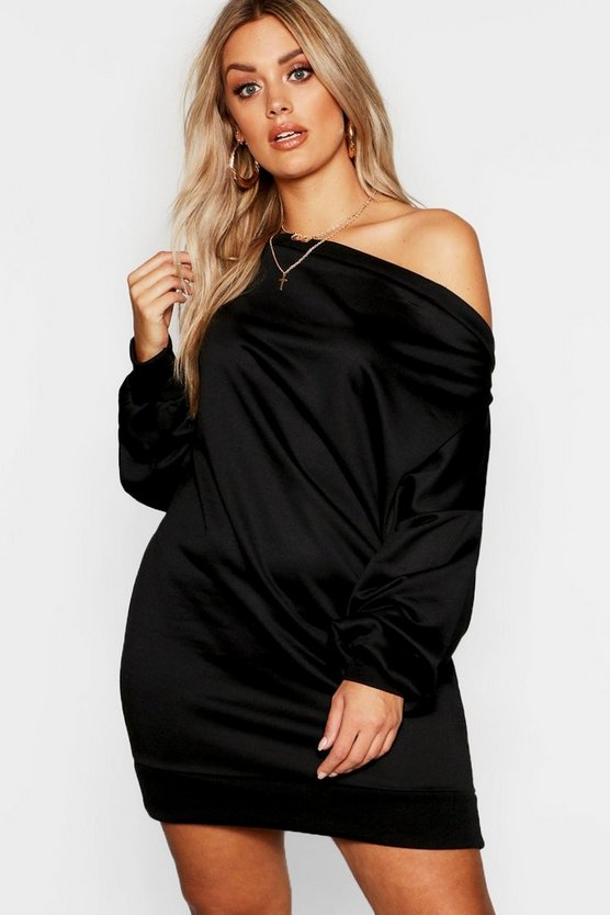 Plus Off The Shoulder Sweat Dress