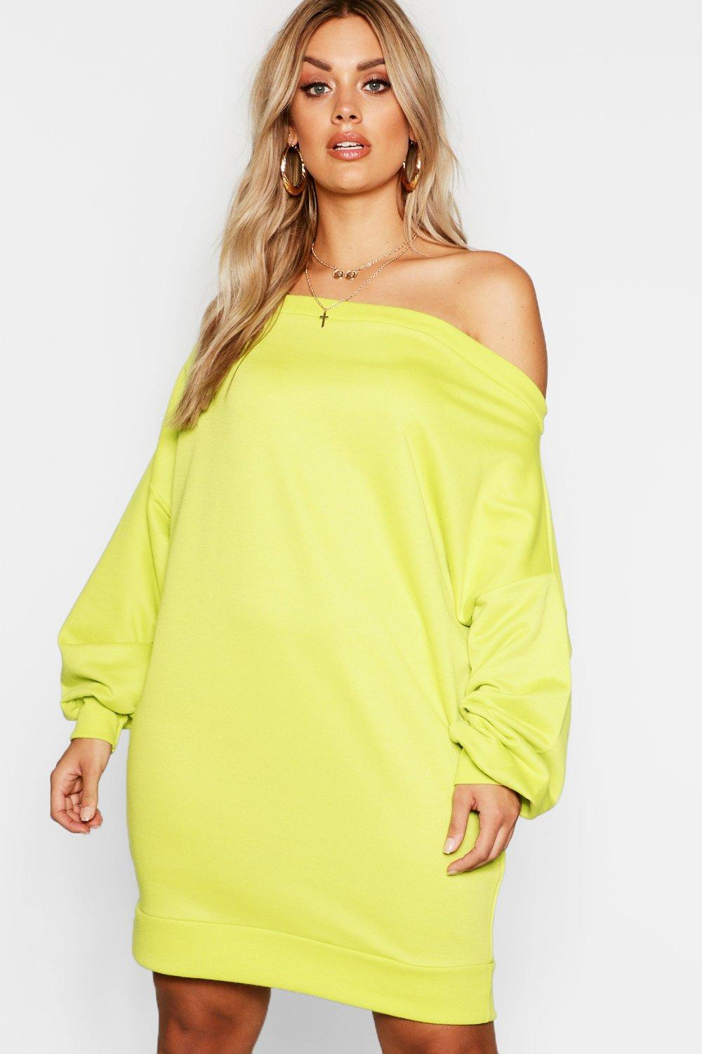 c4f78ea746b ... Off The Shoulder Sweat Dress. Hover to zoom
