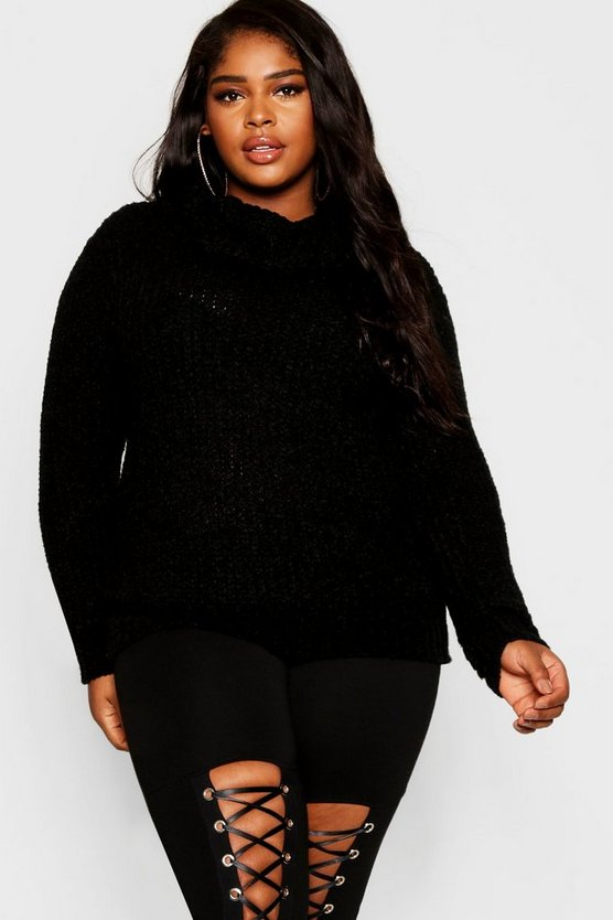 Plus Oversized Roll Neck Jumper