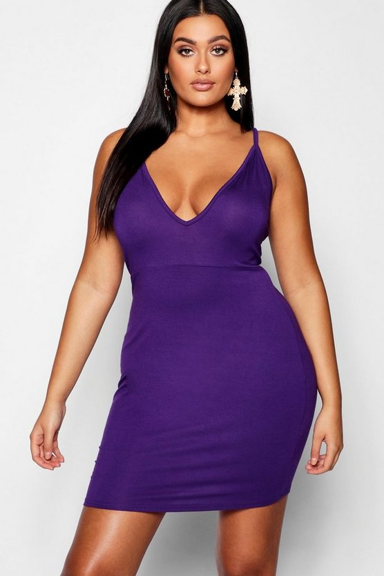 Plus Super Plunge Bodycon Dress