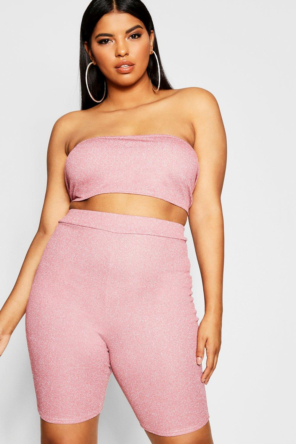 Plus Glitter Shimmer Cycle Short