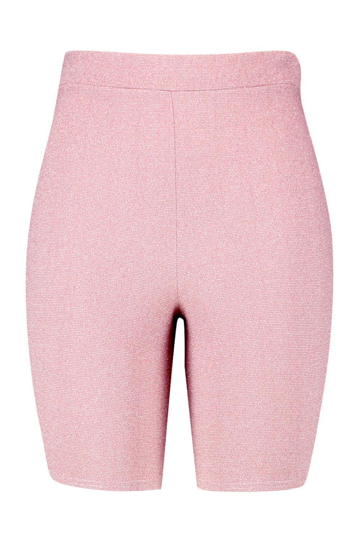 Pantalones rosa con purpurina lúrex Plus cortos ciclista en de Hqwx6vH1