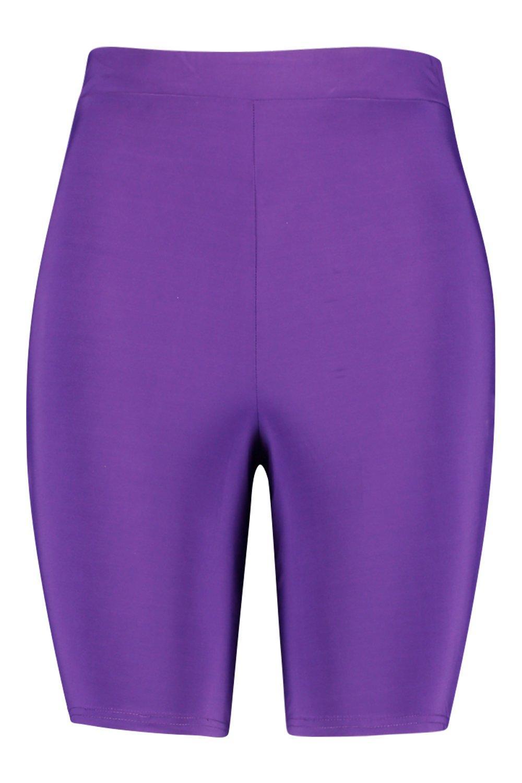 de morado elegantes Plus ciclista Pantalones pedrería de cortos xCawqaYX