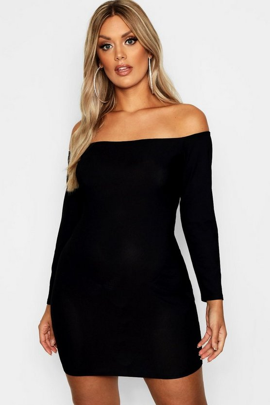 Plus Bardot Bodycon Dress