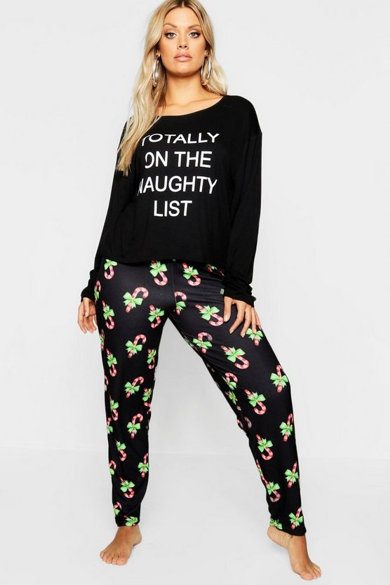 Plus Christmas 'Naughty List' Pyjama Set