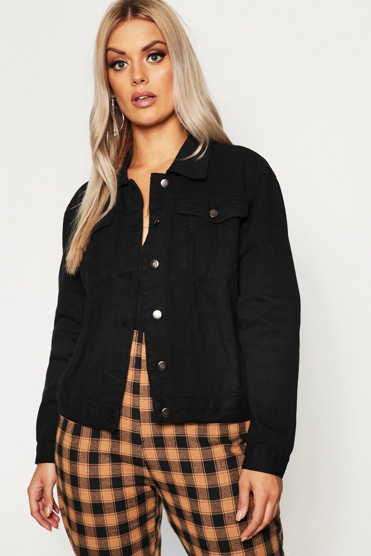 Plus Slim Fit Western Denim Jacket