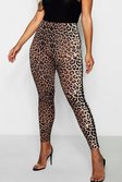 7ce38dc82372 ... Womens Chocolate Plus Sports Stripe Leopard Print Legging alternative  image