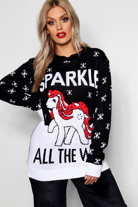 Plus Sparkle All The Way Christmas Jumper