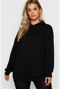 Womens Black Plus Oversized Hoody