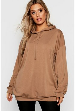 Plus - Sweat à capuche oversize, Moka