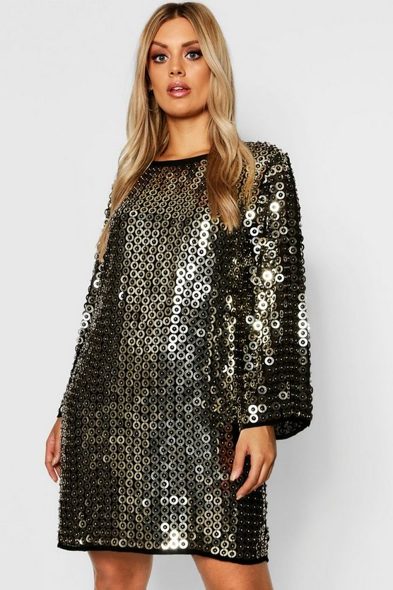 Plus Premium Beaded Shift Dress