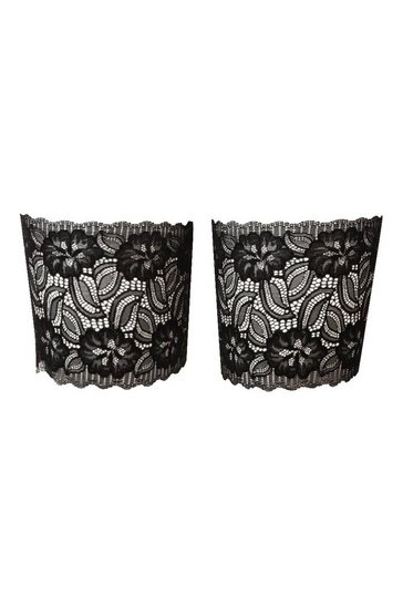 Black Plus Lace Chafing Bands