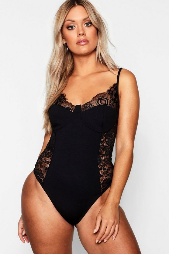Plus Lace Detail Bodysuit