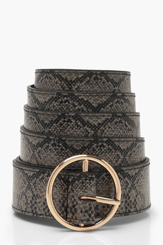 Plus Faux Python Ring Belt