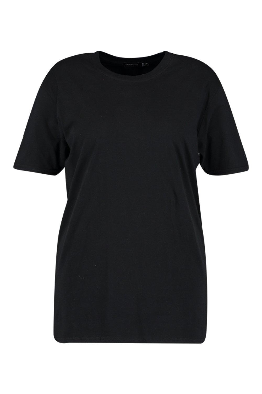 básica Camiseta básica Plus Plus Camiseta negro qBwCptdw
