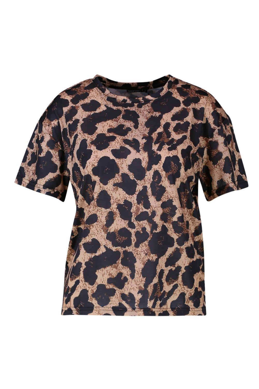brown Leopard T Petite Print Shirt g1wqPzOx