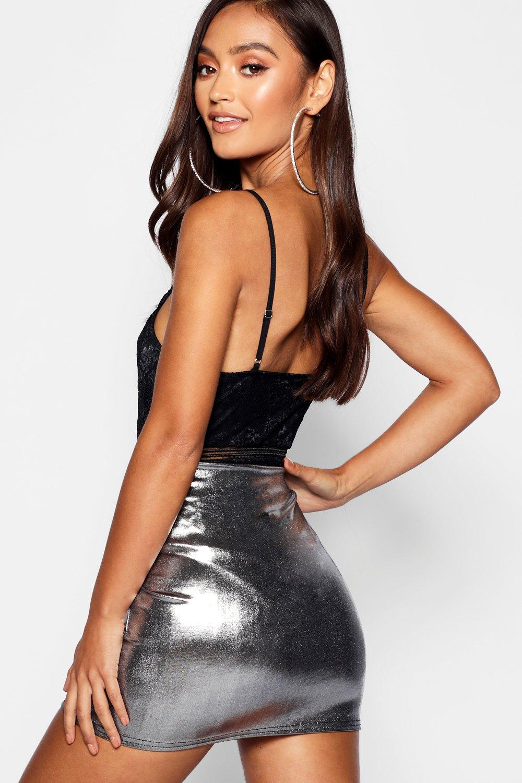 Skirt Petite Mini Metallic Metallic Mini Petite Skirt Exqwz0Ygx