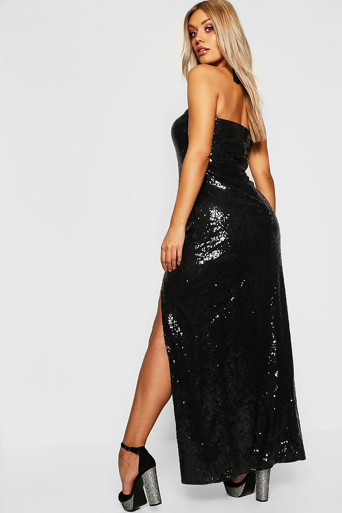 super cute best prices wide varieties Gemma Collins Bandeau Sequin Maxi Dress | boohoo