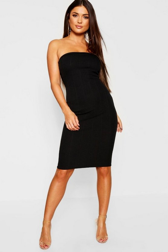 Womens Petite Bandage Bandeau Bodycon Dress