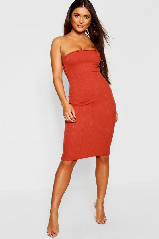 Petite Bandage Bandeau Bodycon Dress