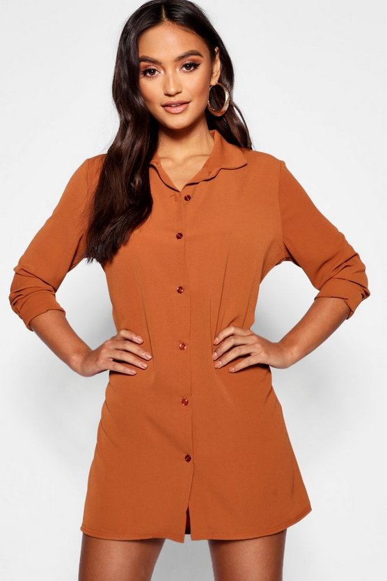 Petite Woven Shirt Dress