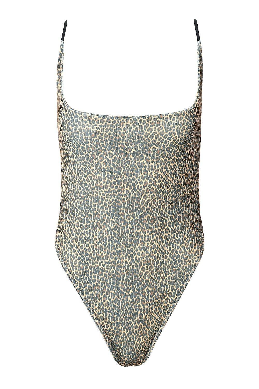 Petite Petite brown Slinky Leopard Bodysuit Leopard YxUq5T4