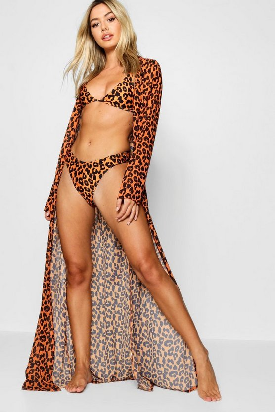Petite Bright Animal Print Maxi Dress Beach Cover Up