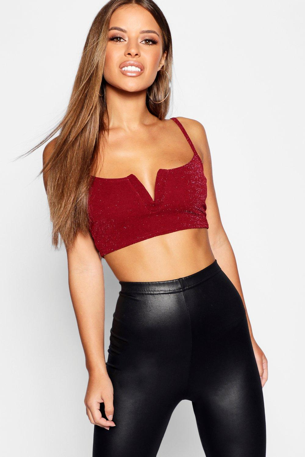 V Bralet Petite Metallic wine Bar w1vqvpOXH