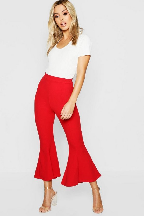 Petite Cropped Flare Ankle Grazer