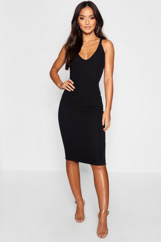 Petite Side Buckle Detail Midi Dress
